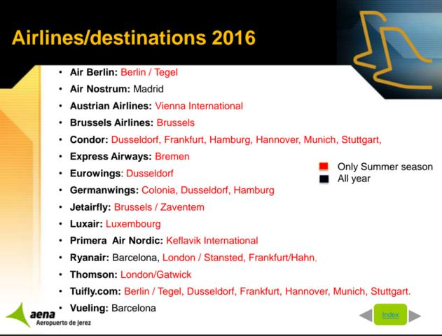 Flight Connections to Jerez