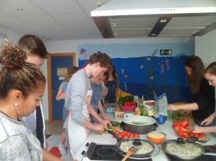 Clase de cocina con Iris