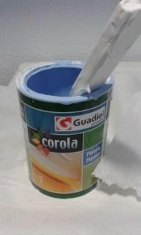 La pintura azul