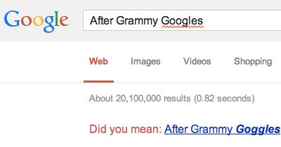 After Grammy Googles