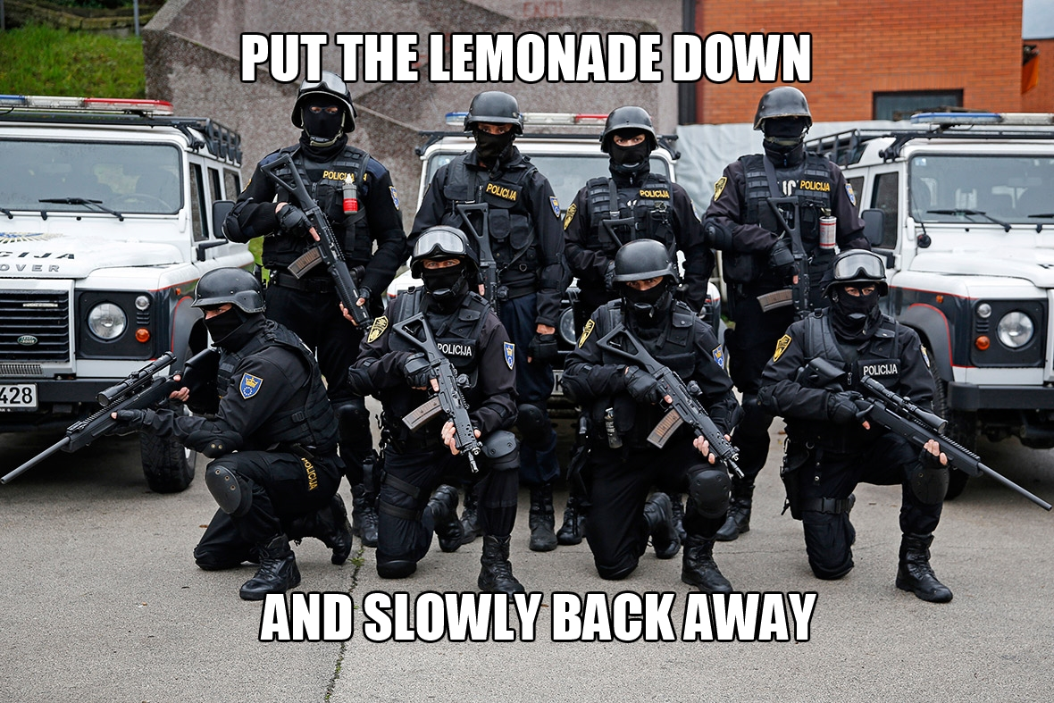 Police Shut Down Lemonade Stand