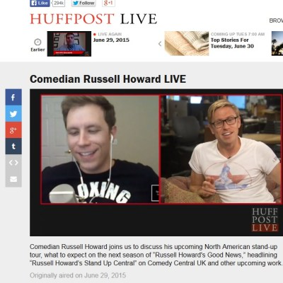 Sparks Is Back On HuffPost Live – This Time With Russell Howard!