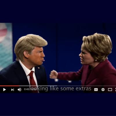 Donald & Hillary rap it out