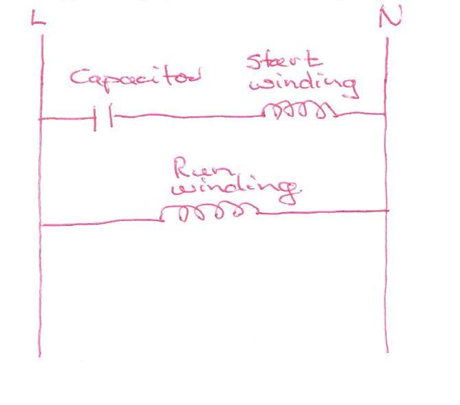 single phase motor capacitor start  sparkyhelp