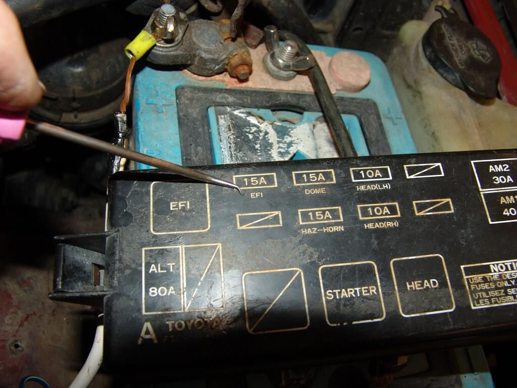 Fuse Box 94 Toyota Pickup Electrical Wiring Diagrams 87 Diagram Explained Rear Differential 1994 Tercel