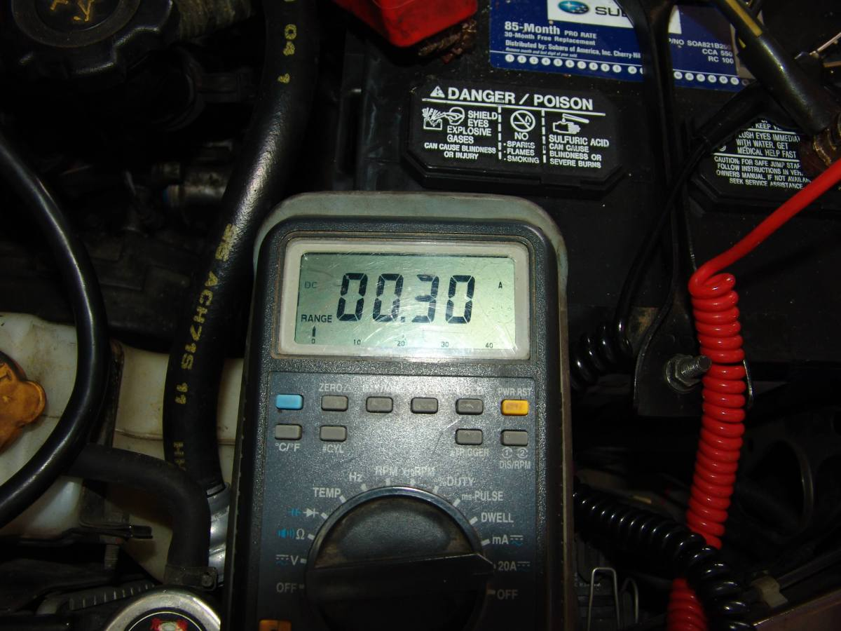 sparky's answers - 1990 subaru legacy l, battery goes dead