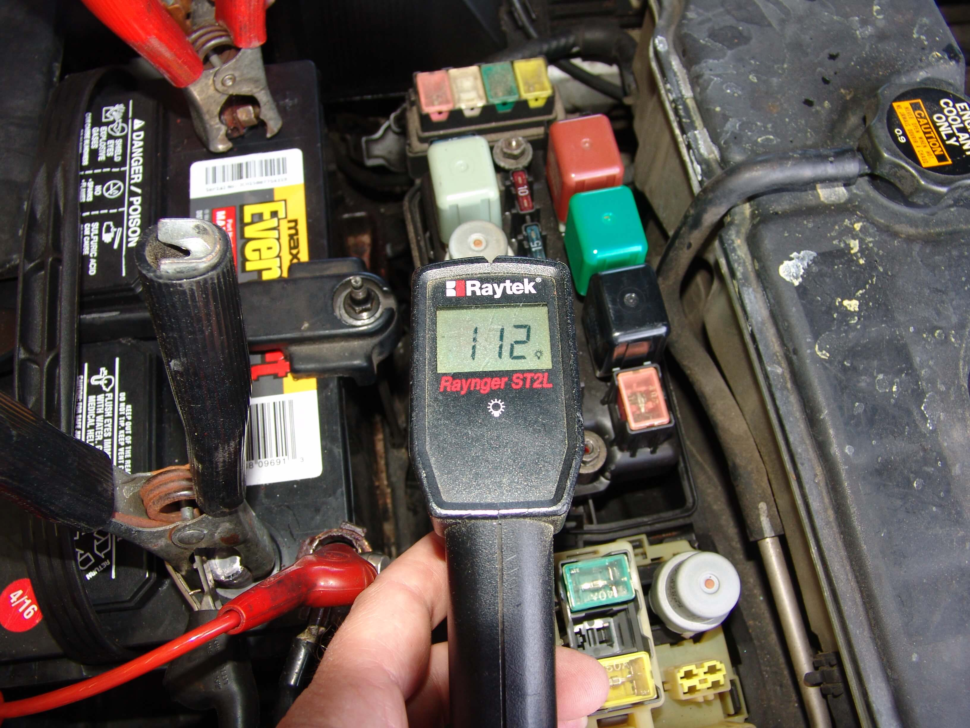Sparkys Answers 1994 Lexus Ls400 Battery Goes Dead Ls 400 Fuse Box Relay One Hundred And Twelve Degrees Fahrenheit Is Pretty Warm For A That In Theory Has Not Been On Several Hours The Highest Temperature I Was