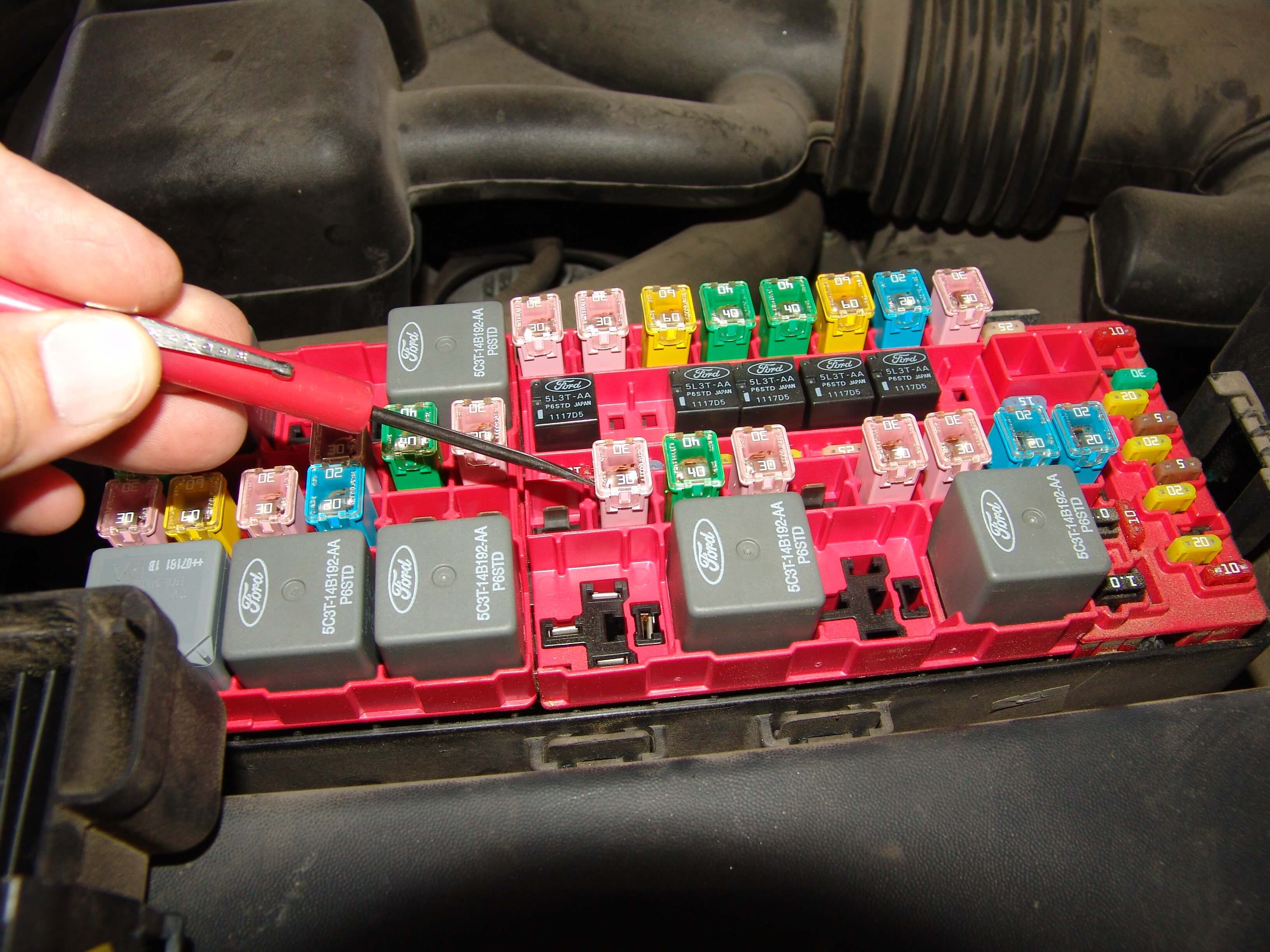 The problem was intermittent so I installed a new fuse and marked it's  location on the fuse box cover. The customer was on her way out of town so  there was ...