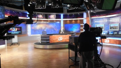 Channel 3 news studio. Photo credit to Andrea Charcas.