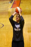 Dupree working on her jump shot (By Jacob Arce)