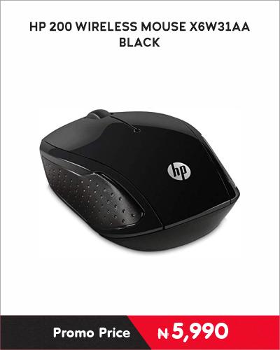 HP 200 WIRELESS MOUSE X6W31AA Black