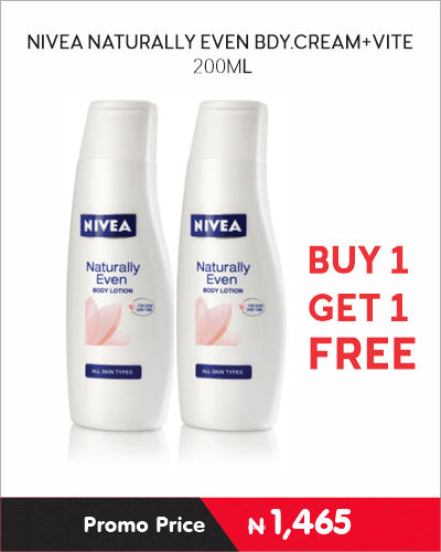 NIVEA NATURALLY EVEN BDY.CREAM VITE
