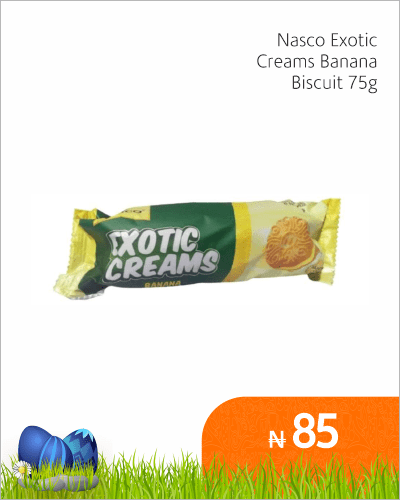Nasco Exotic Cream Banana Biscuit 75g
