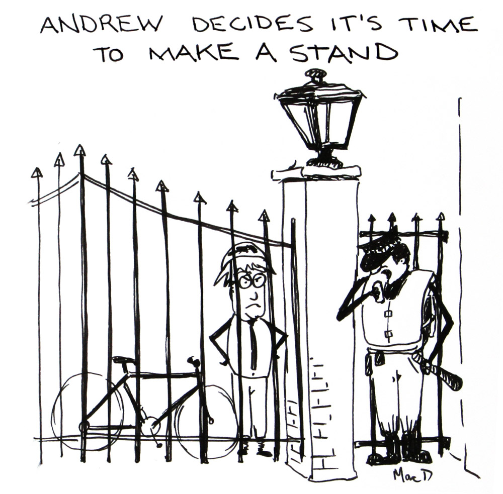 a mitchell tory whip at the gates of downing street by macd
