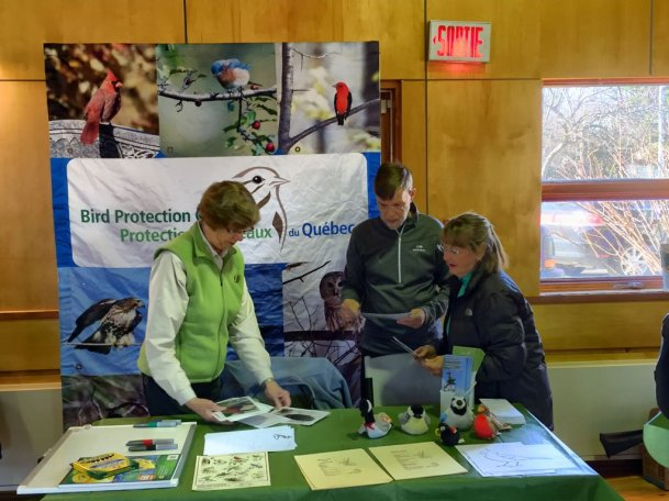 Bird Protection Quebec's stall