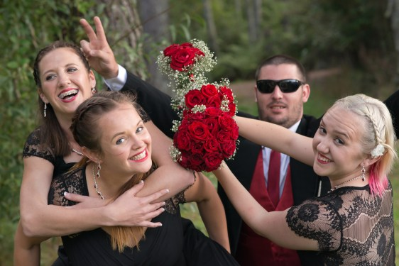Mad bridal party!