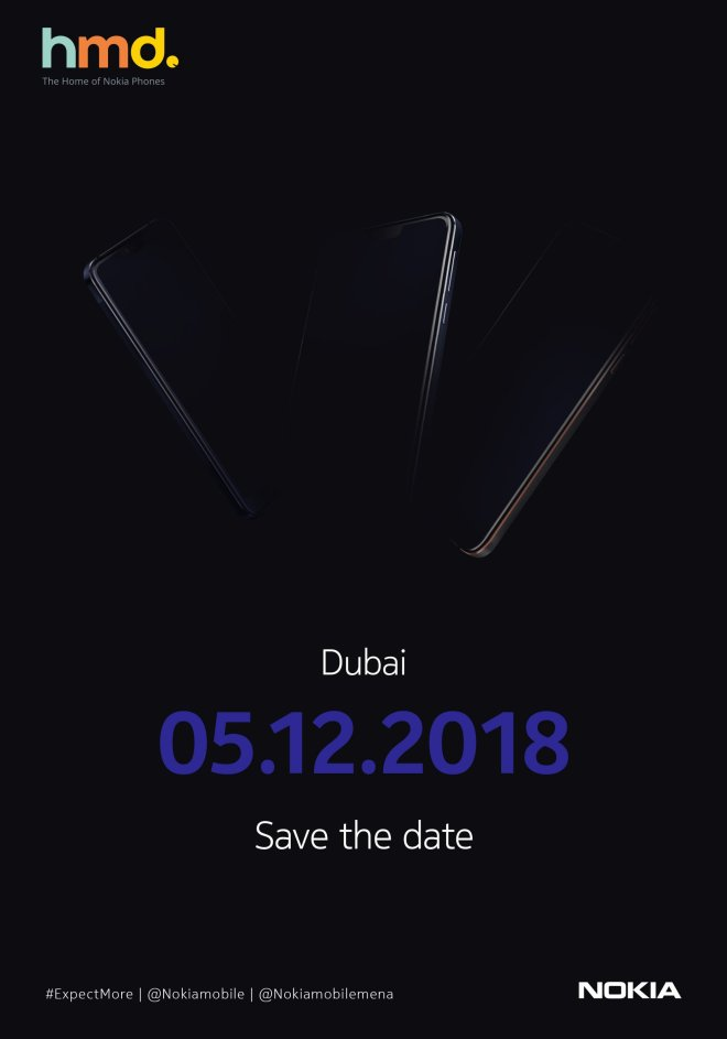 Official poster of Nokia 5th December event held in Dubai