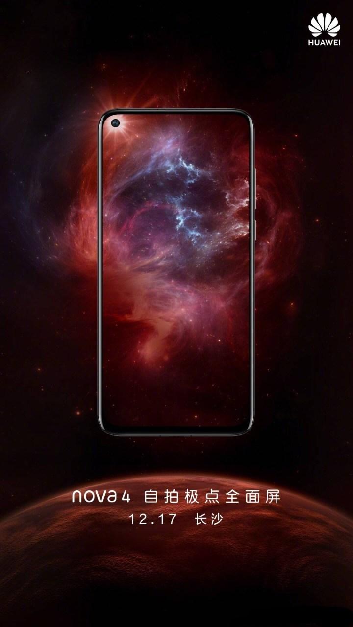 Huawei Nova 4 Launch Date Poster