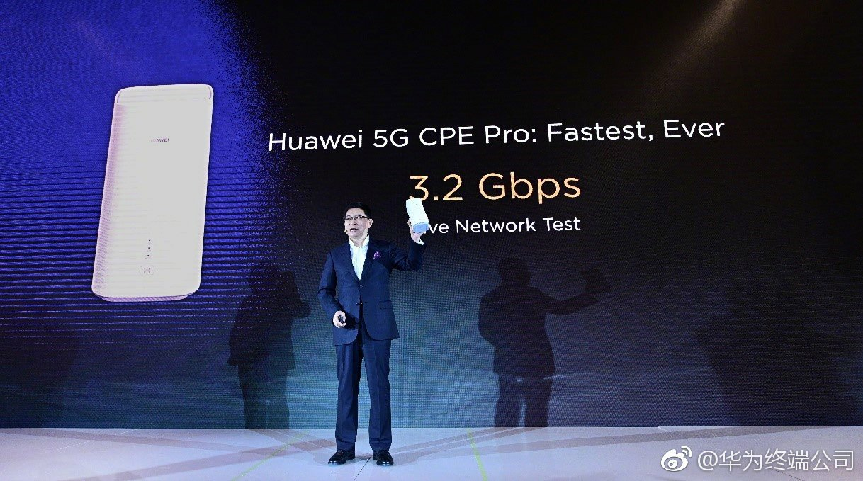 MWC 2019 Pre - Conference : Huawei released 5G CPE Pro: 3.2Gbps, equipped with Baron 5000 chip 1