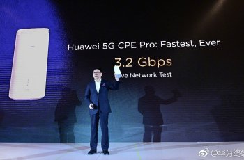MWC 2019 Pre - Conference :Huawei released 5G CPE Pro: 3.2Gbps, equipped with Baron 5000 chip 1