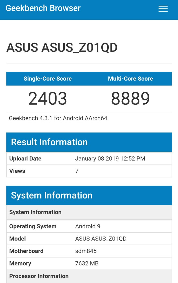 Asus Rog Phone running android pie