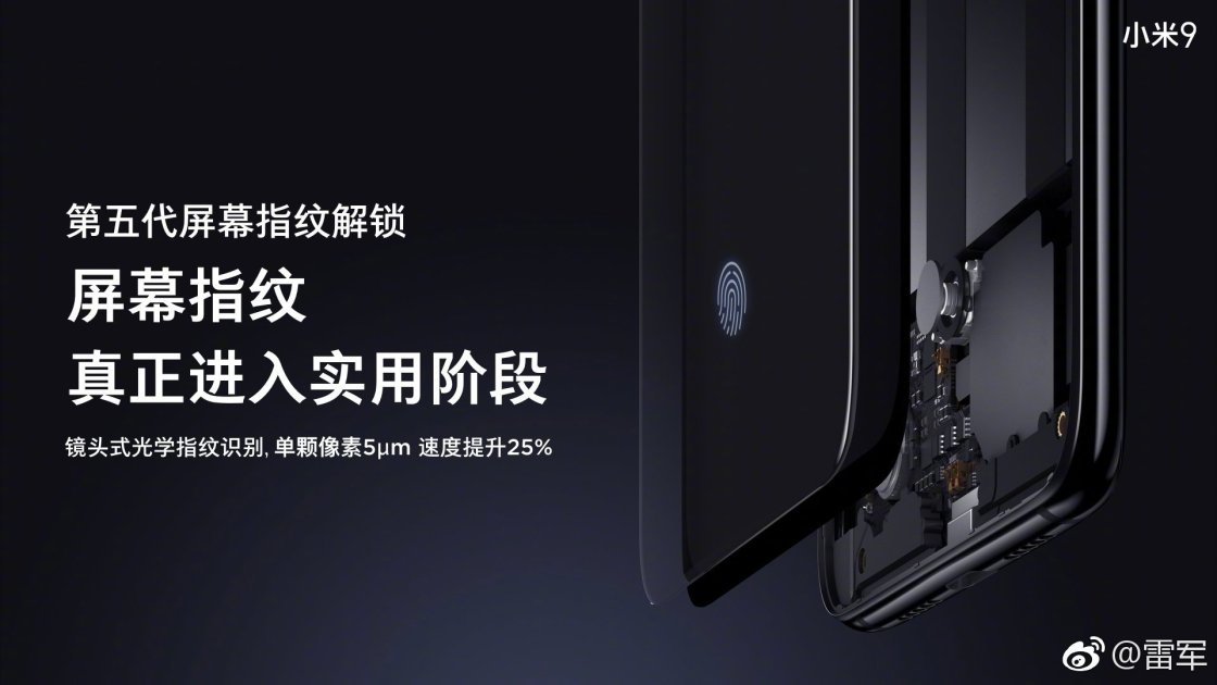 Xiaomi 9 will use Samsung AMOLED Display with Fastest In-display fingerprint 1