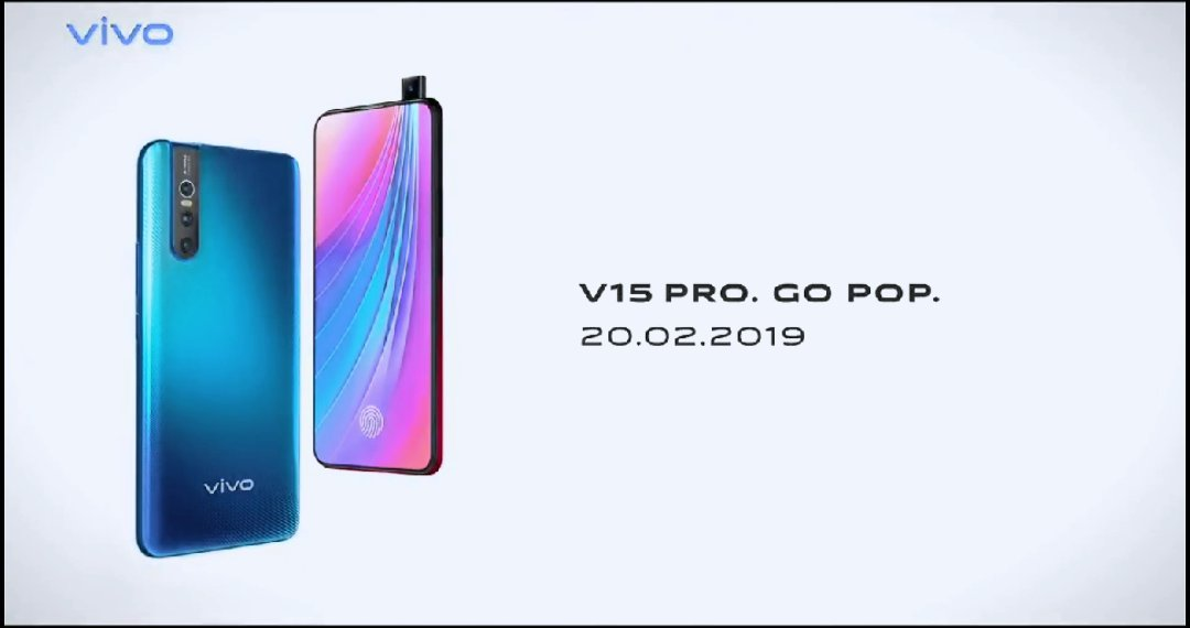 Vivo V15 Pro Official Poster