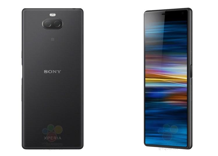 Sony Xperia XA3 renderings exposure: 21:9 screen, wide forehead small chin 1