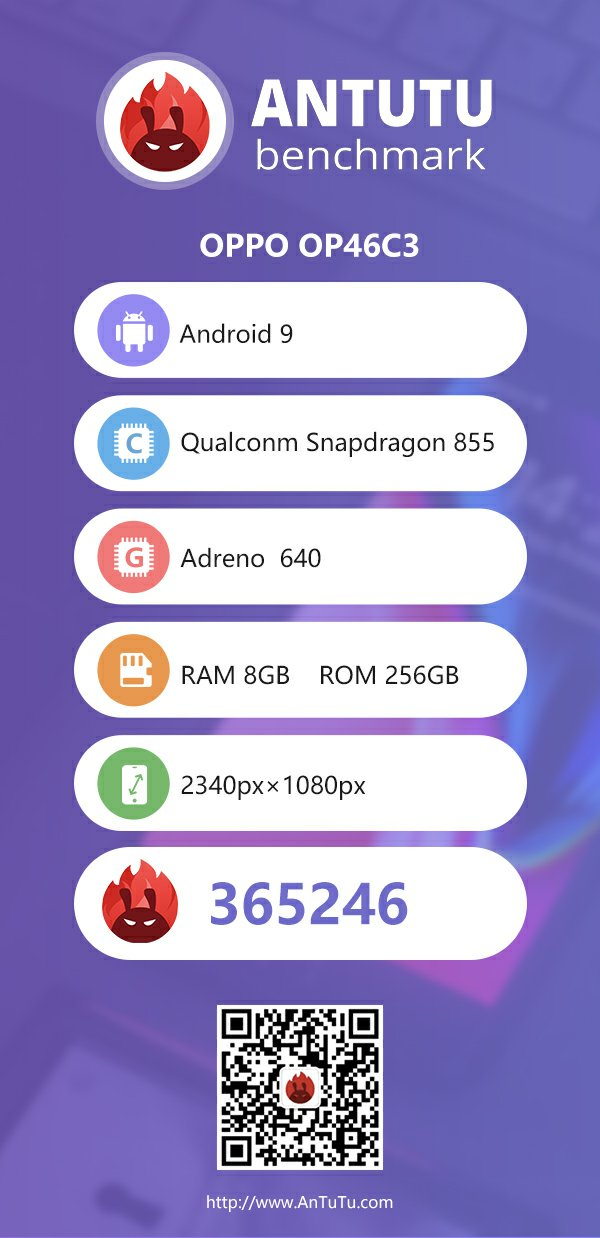 Oppo OP46C3 With Snapdragon 855 Appeared on Antutu 1