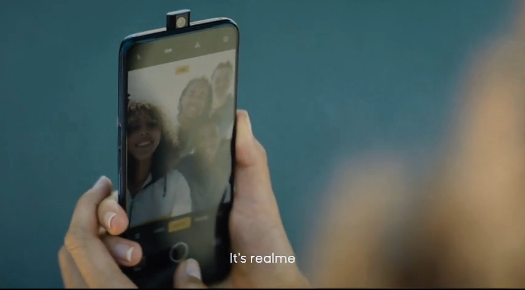 Compete with Redmi ? Realme new machine appeared: pop-up front Camera in Promo 1