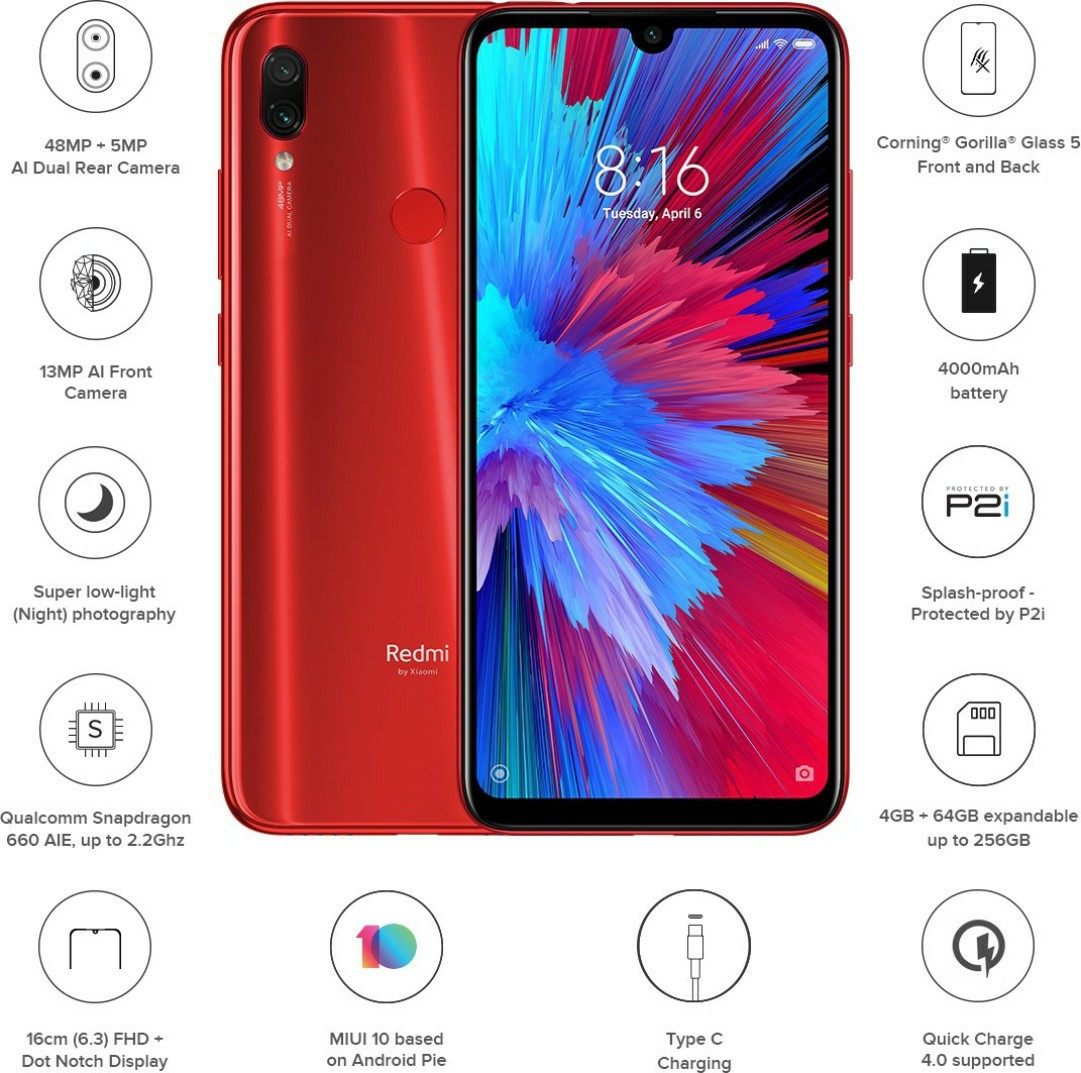 Redmi Note 7s Red