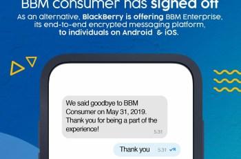 Blackberry BBM Shutdown