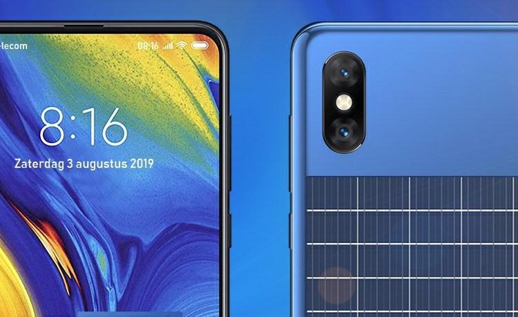 Xiaomi Solar panel phone patent