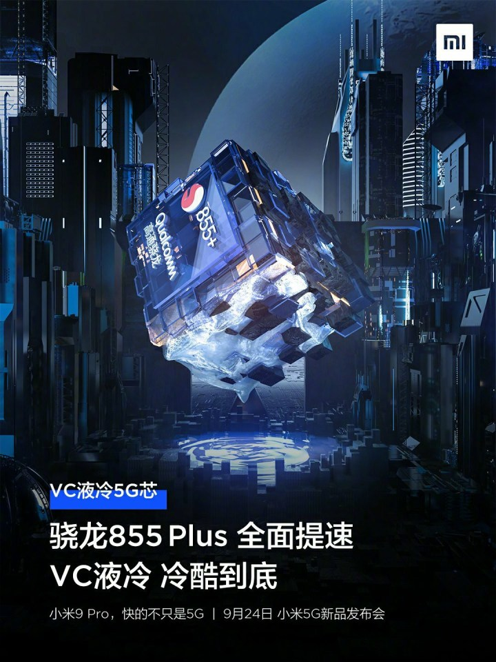Xiaomi 9 Pro 5G Processor and VC Liquid Cooling