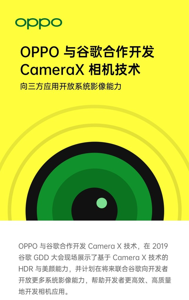 Oppo CameraX Technology with Google