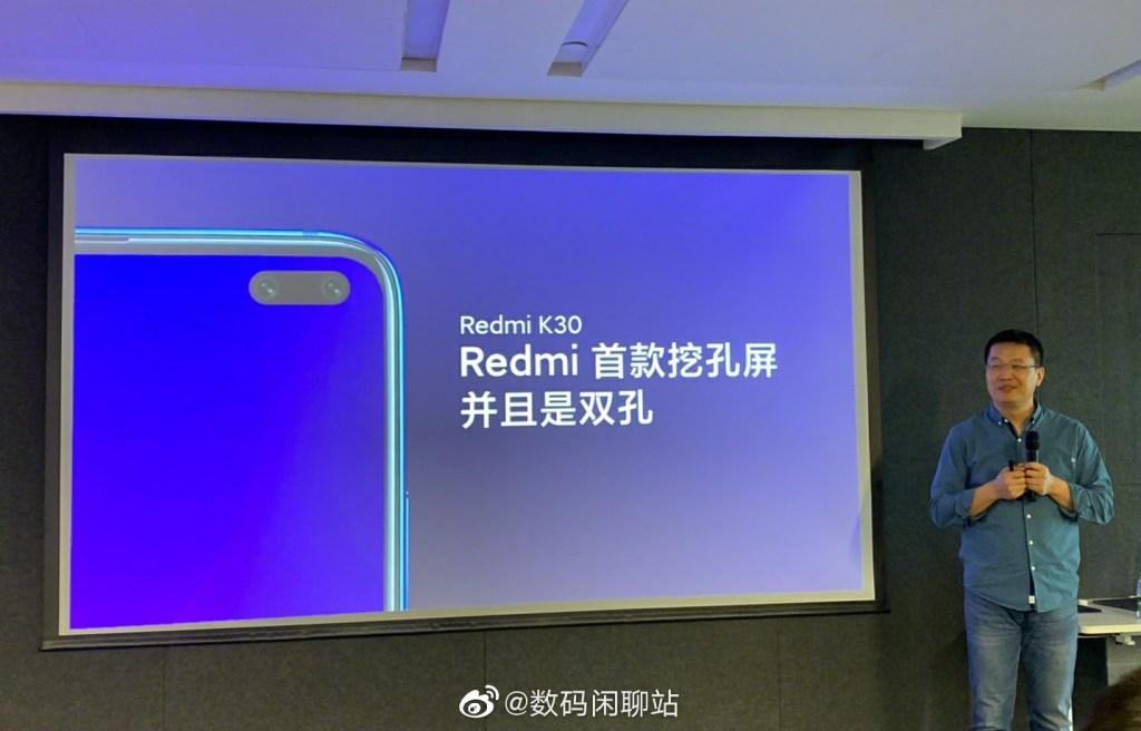 Redmi K30 dual front camera