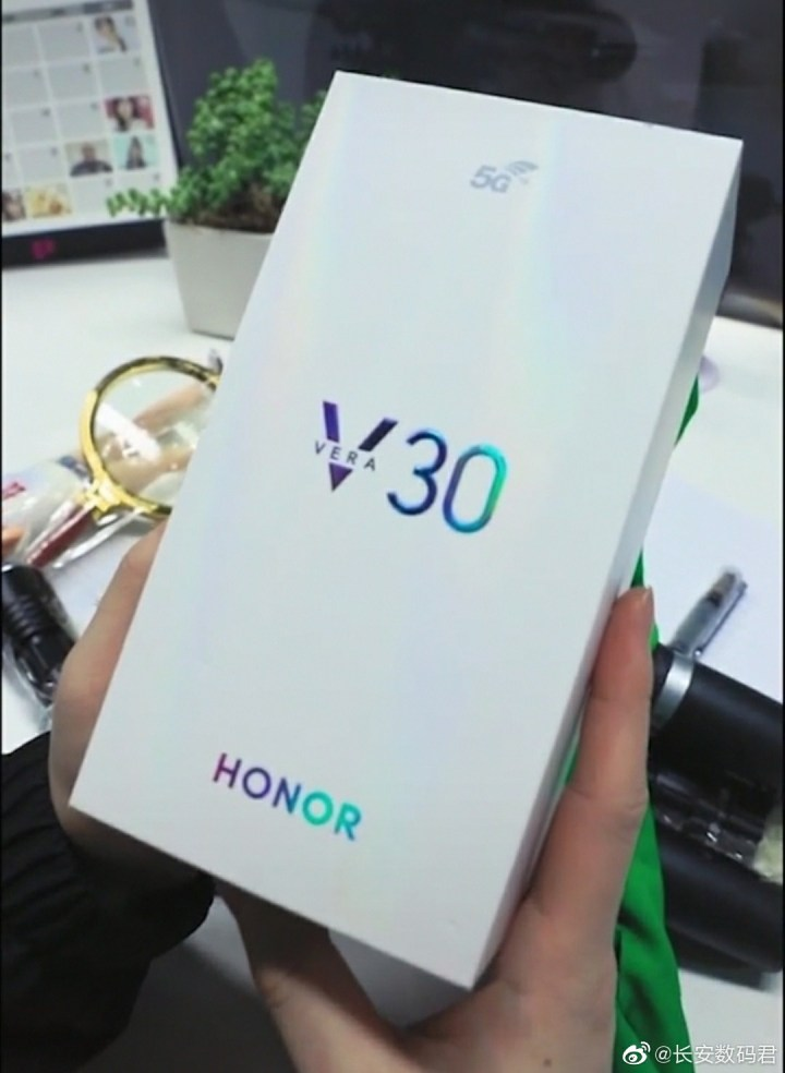 Honor V30 Box Confirmed 5g and also known as honor vera 30