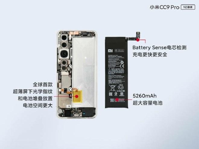 xiaomi cc9 pro disassembling battery