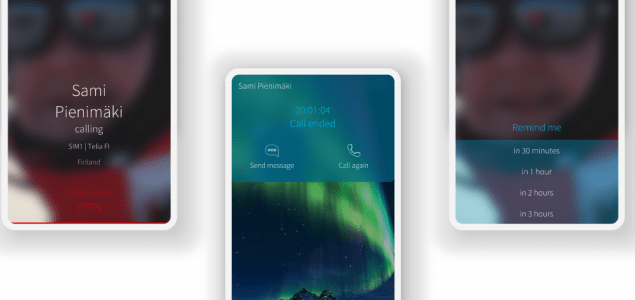Illustration on Sailfish OS 3.2 of Onboarding Experience