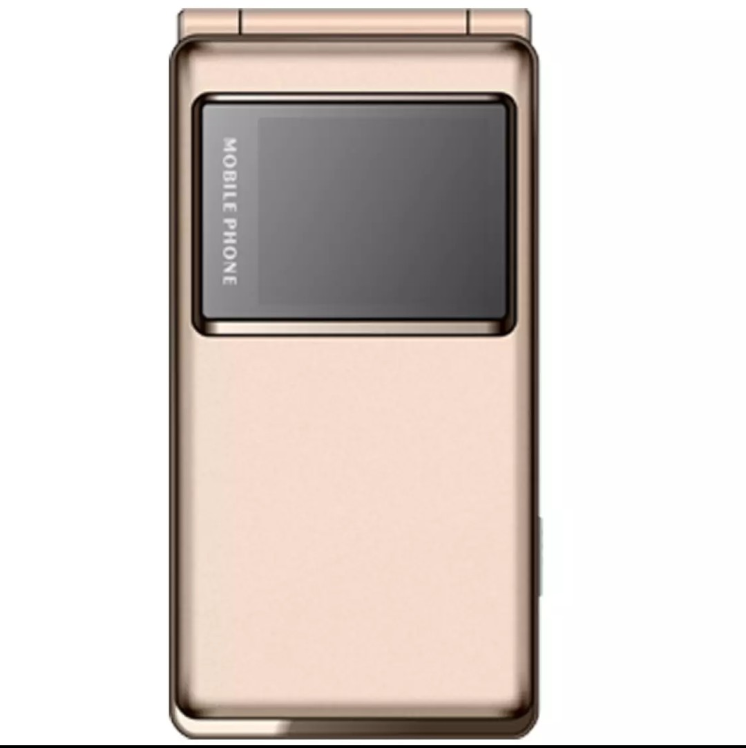 Gionee A326 flip phone all side view gold Color