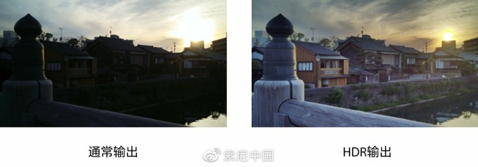 Normal output vs HDR output