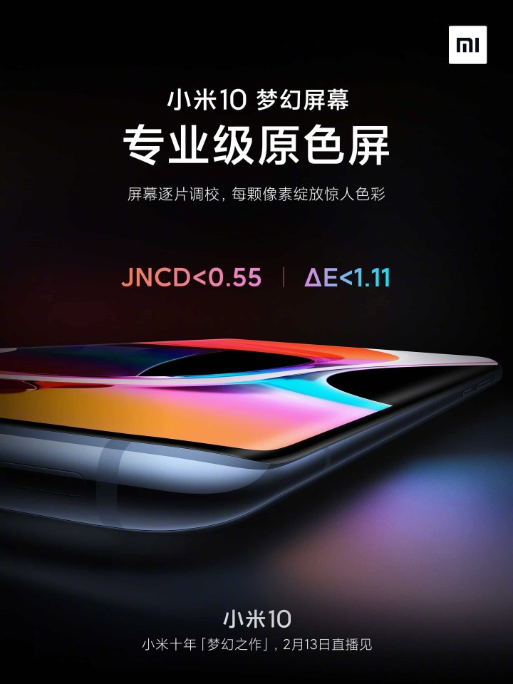 Xiaomi Mi 10 Display Specifications