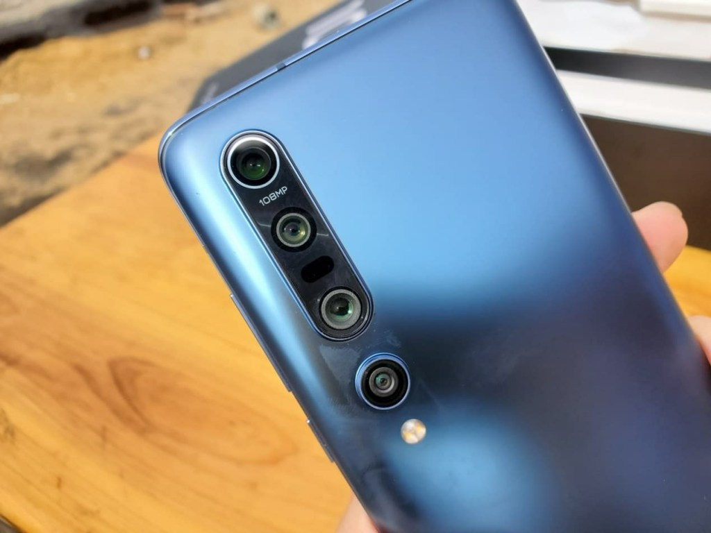 Back side of Xiaomi Mi 10 Pro review