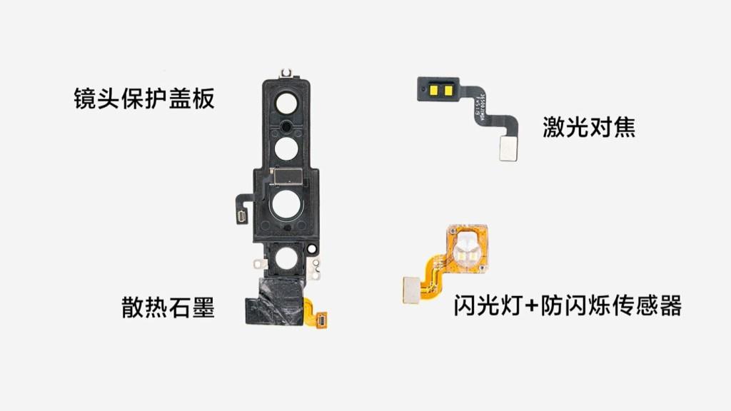 Lens protection cover, laser focus, flash + anti-flicker sensor, cooling graphite