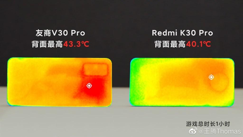 Redmi K30 Pro vs Honor V30 Pro Heating