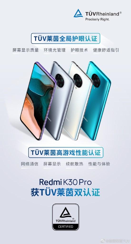 Redmi K30 Pro Silver Color