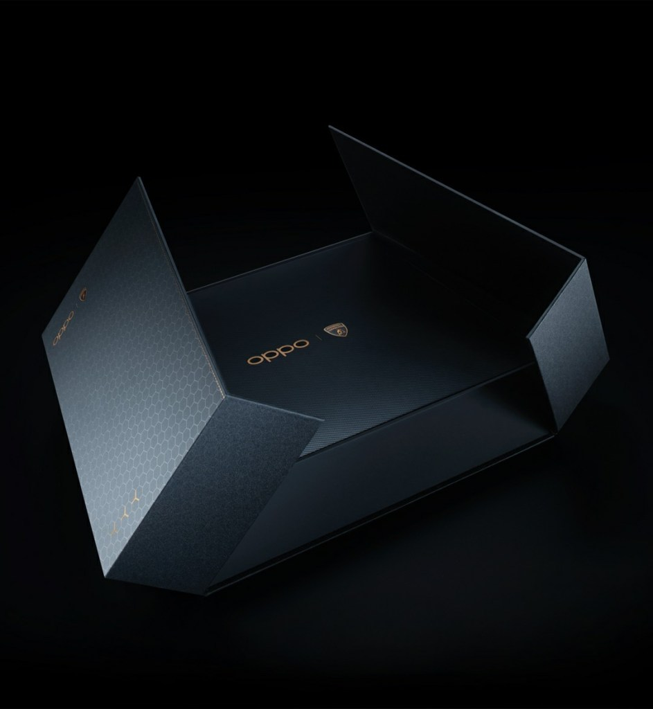 Oppo Find X2 Pro Lamborghini Edition packaging
