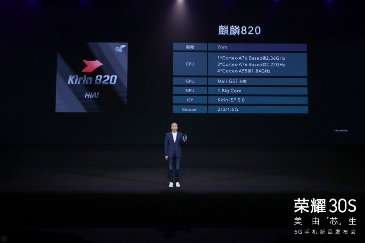 Kirin 820 5G full specifications