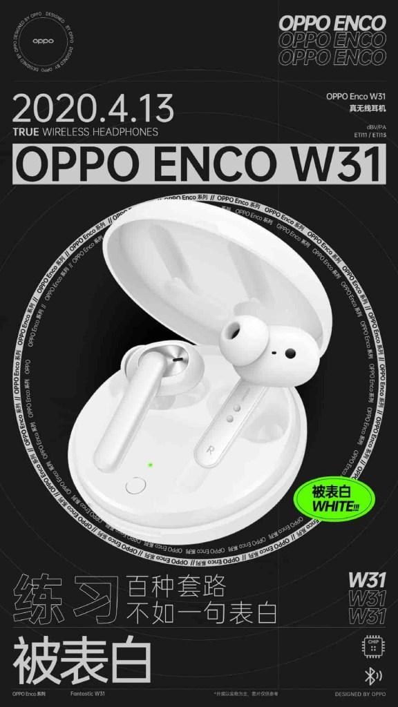 Oppo ENCO W31 White