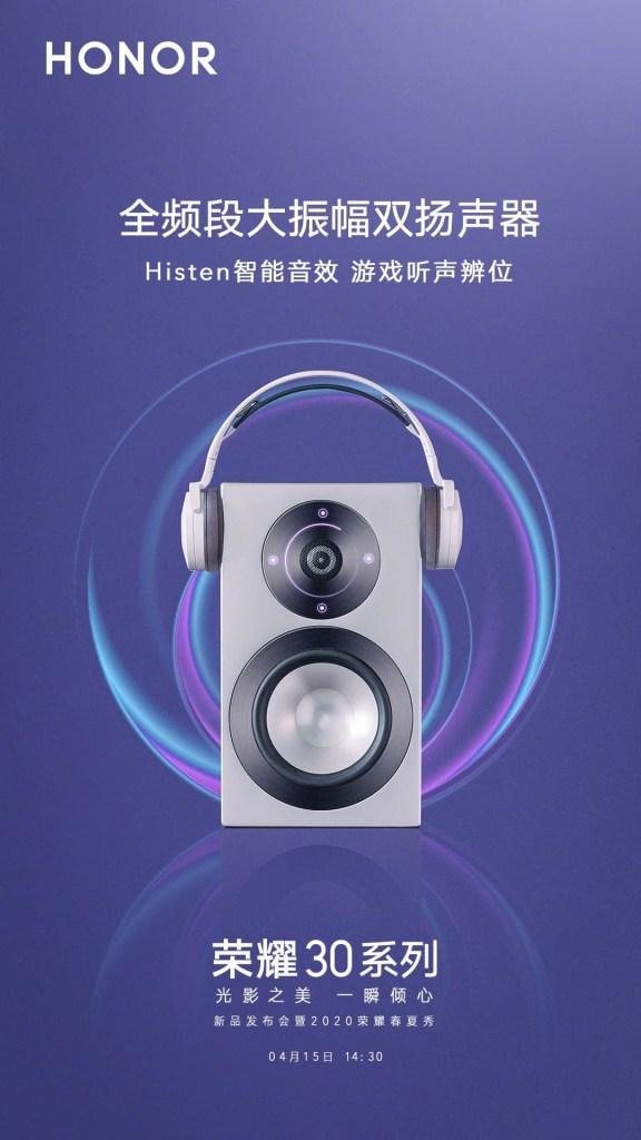Honor 30 Series dual speaker, histen Audio,